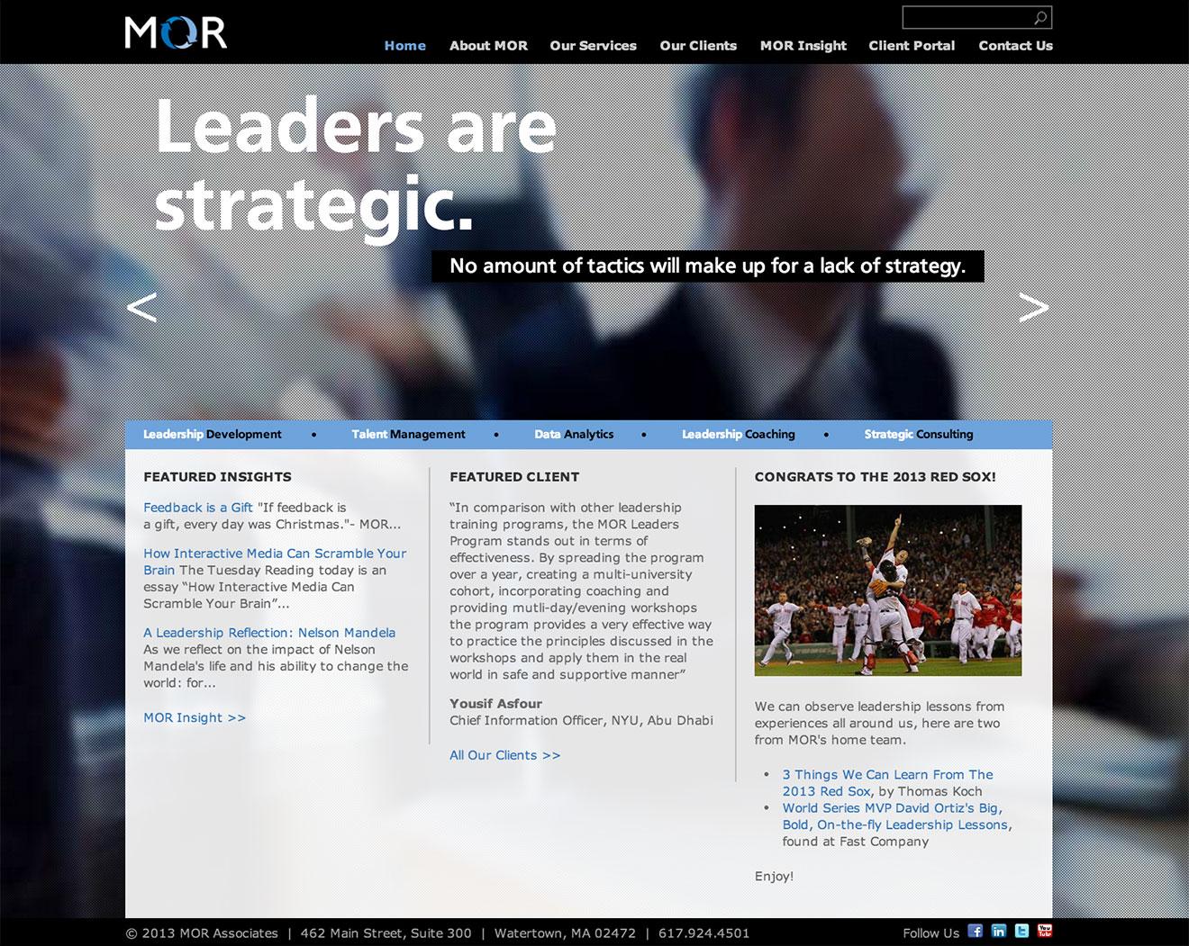 MOR homepage