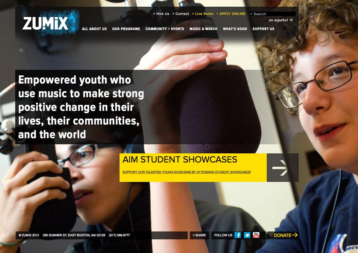 Zumix home page